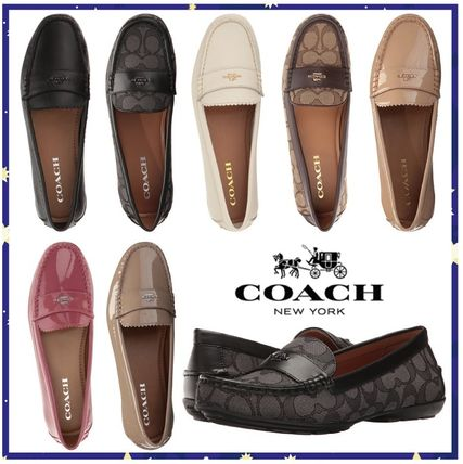Square Toe Casual Style Plain Leather Loafer Pumps & Mules