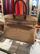 HERMES Birkin Crocodile A4 Leather Handmade Party Style Elegant Style