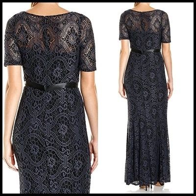 Decode 1.8 Maxi Boat Neck Long Short Sleeves Lace Dresses