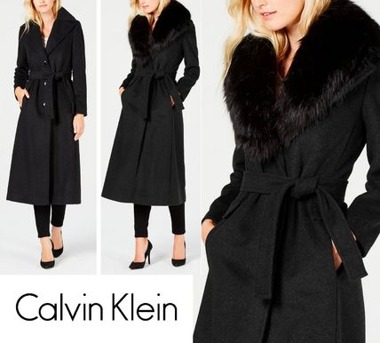 Wool Plain Long Elegant Style Wrap Coats