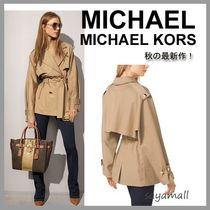 Michael Kors Short Casual Style Plain Oversized Trench Coats