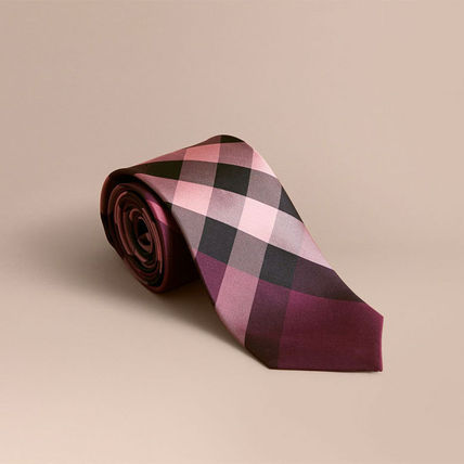 Burberry Other Check Patterns Silk Ties