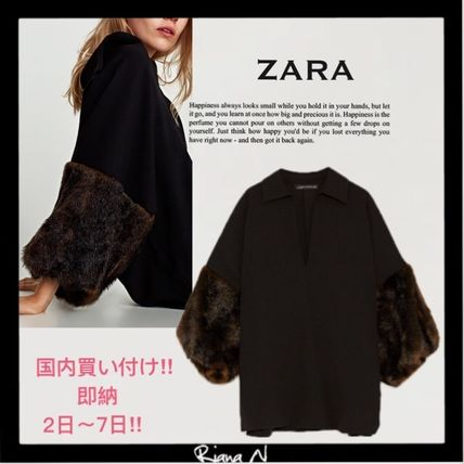 ZARA Plain Puff Sleeves Shirts & Blouses