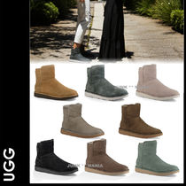 UGG Australia ABREE MINI Plain Toe Casual Style Sheepskin Plain Ankle & Booties Boots