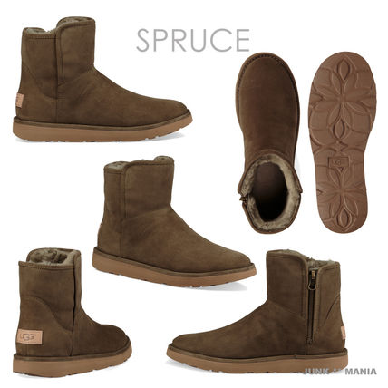 UGG Australia Ankle & Booties Plain Toe Casual Style Sheepskin Plain Ankle & Booties Boots 8