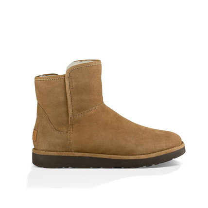 UGG Australia Ankle & Booties Plain Toe Casual Style Sheepskin Plain Ankle & Booties Boots 11