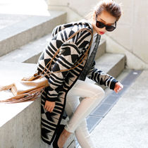 Star Casual Style Long Tribal Coats
