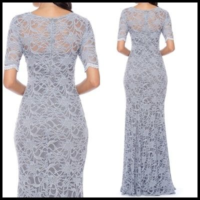 Decode 1.8 Flower Patterns Maxi Long Short Sleeves Lace Dresses