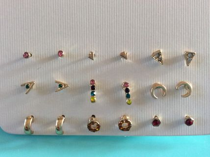 Costume Jewelry Casual Style Brass With Jewels Earrings
