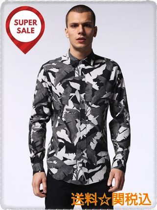 DIESEL Camouflage Street Style Long Sleeves Cotton Shirts