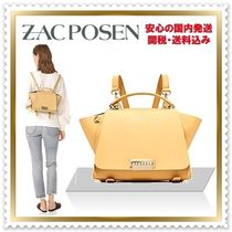 ZAC ZAC POSEN Casual Style Calfskin 3WAY Plain Backpacks