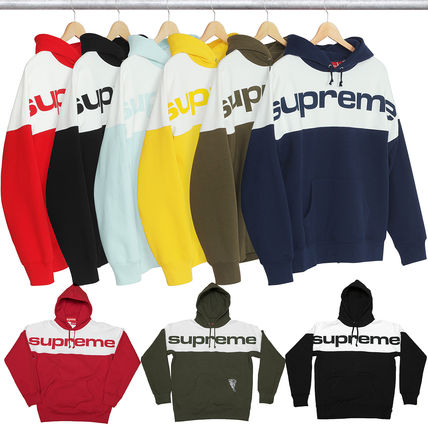 Supreme Street Style Cotton Hoodies