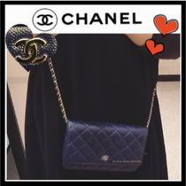 CHANEL MATELASSE Casual Style Unisex Calfskin 3WAY Plain Shoulder Bags