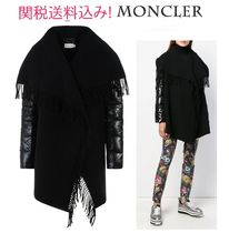 MONCLER 18-19AW Moncler Wool CAPE Fringe Sleeve detail