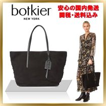 Botkier Suede A4 Plain Office Style Shoulder Bags