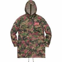 Supreme Camouflage Street Style Long Chester Coats