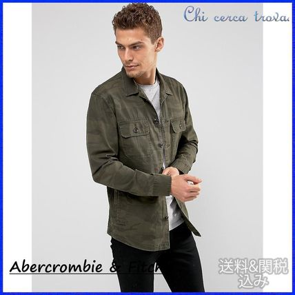 Abercrombie & Fitch Camouflage Street Style Long Sleeves Shirts