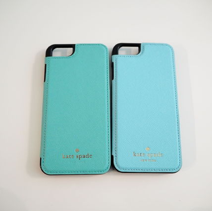 kate spade new york Plain Leather Smart Phone Cases