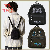 KENZO Cambus Street Style Other Animal Patterns Backpacks