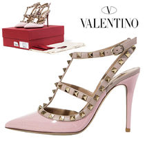 VALENTINO Plain Leather Pin Heels Elegant Style