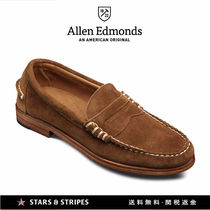 Allen Edmonds Loafers Suede Street Style Plain U Tips Handmade