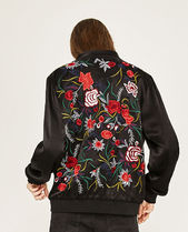 ZARA Flower Patterns Casual Style Varsity Jackets