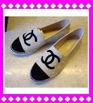 CHANEL ICON Platform Suede Espadrille Shoes