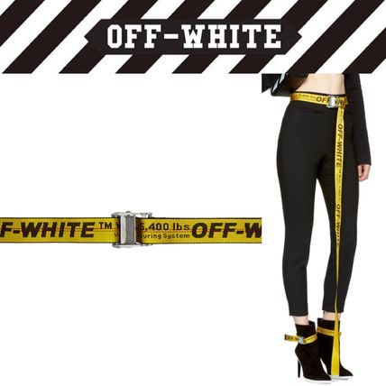 off white 2018 ss casual style unisex belts by swedishstyles buyma