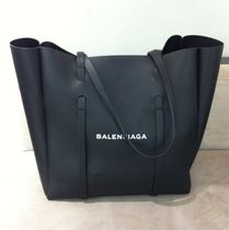 BALENCIAGA Unisex Leather Totes
