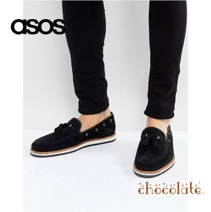 ASOS Plain Toe Loafers Suede Tassel Plain Loafers & Slip-ons