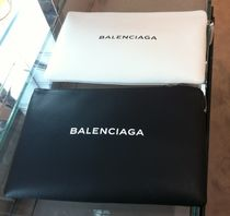 BALENCIAGA Unisex Leather Clutches
