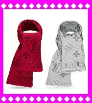Louis Vuitton MONOGRAM Knit & Fur Scarves