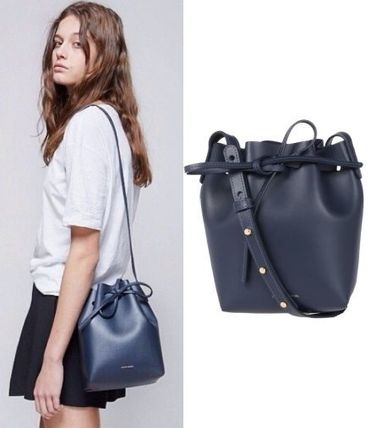 MANSUR GAVRIEL 2WAY Plain Leather Purses Shoulder Bags