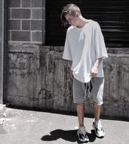 URKOOL Suede Street Style Plain Sarouel Shorts