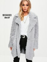 Missguided Casual Style Faux Fur Cashmere & Fur Coats