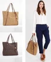 Ralph Lauren Casual Style A4 Straw Bags