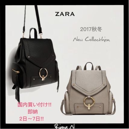 ZARA 2WAY Plain Backpacks