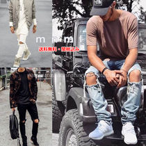 MNML Tapered Pants Denim Street Style Plain Jeans & Denim