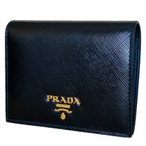 PRADA Saffiano Plain Folding Wallet Folding Wallets