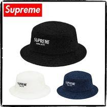 Supreme Street Style Straw Hats