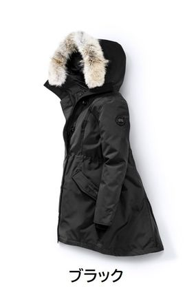 Fur Plain Logo Down Jackets
