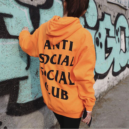 ANTI SOCIAL SOCIAL CLUB Hoodies Unisex Street Style Long Sleeves Hoodies 9