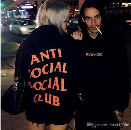 ANTI SOCIAL SOCIAL CLUB Hoodies Unisex Street Style Long Sleeves Hoodies 8