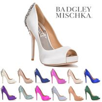Badgley Mischka Open Toe Platform Party Style With Jewels