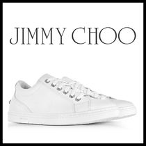 Jimmy Choo Unisex Plain Leather Sneakers