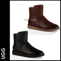 UGG Australia ABREE MINI Plain Toe Casual Style Plain Leather Ankle & Booties Boots