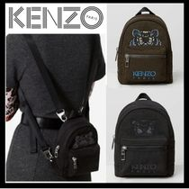 KENZO Nylon Plain Backpacks