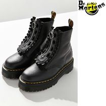 Dr Martens Rubber Sole Street Style Collaboration Leather Boots Boots