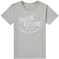 MAISON KITSUNE Crew Neck Unisex Cotton Short Sleeves Crew Neck T-Shirts