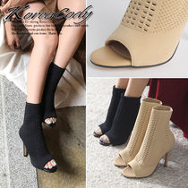 Open Toe Plain Pin Heels Party Style Ankle & Booties Boots